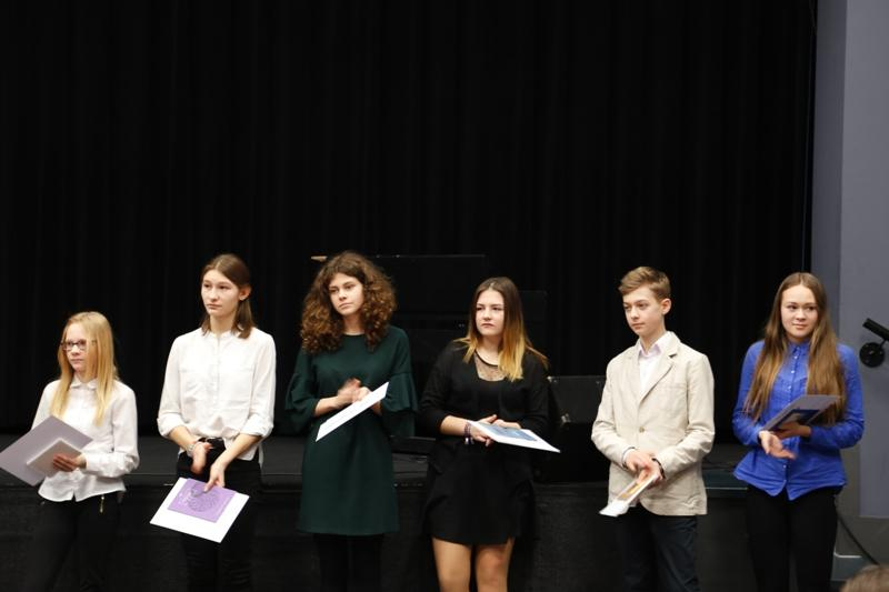 Laureaci 62. Dolnośląskiego Konkursu Recytatorskiego dla gimnazjalistów