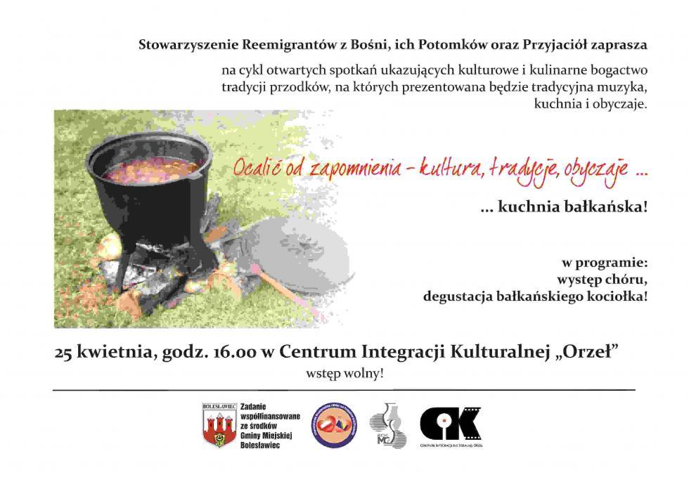 Wieczór zkuchnią bałkańską