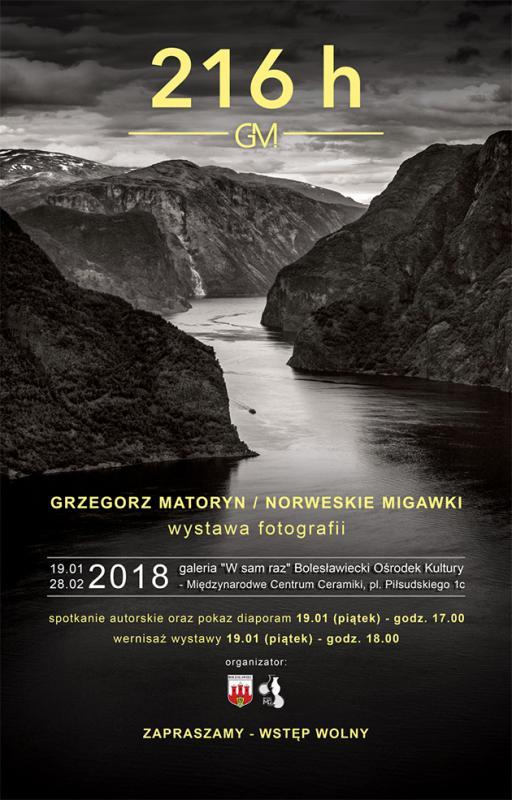 Norweskie migawki - wystawa fotografii Grzegorza Matoryna