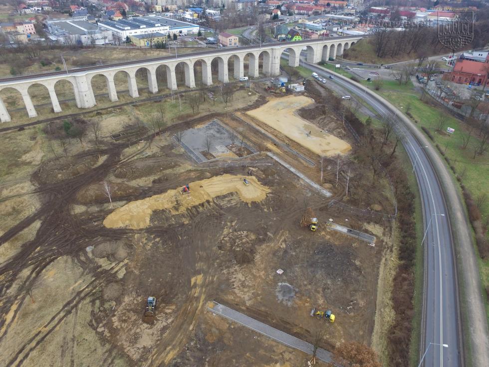 W Bolesławcu powstaje pumptrack, skatepark i ścianka wspinaczkowa