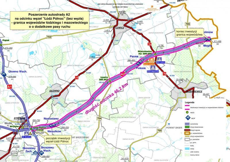Łatwiej dostolicy - dodatkowy pas autostrady A2 między Łodzią iWarszawą